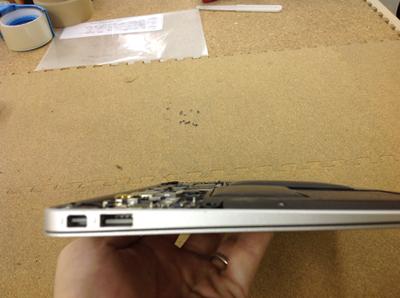 macbook air バッテリー交換2