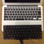 macbook air a1370 11インチ キーボード交換修理いたしました!