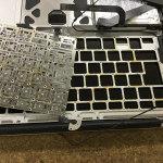 Macが水没してキーボードが入力できない修理