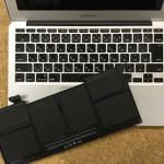 MacBookAir バッテリー交換「バッテリーの交換修理」の表示