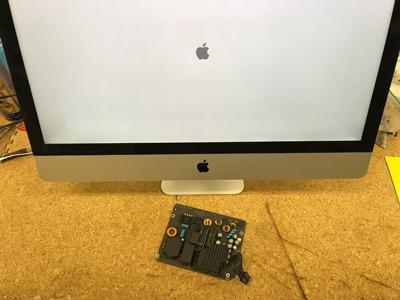 iMac 27 電源が入らない