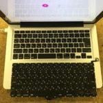 キーボードにお茶をこぼしたMacBook Proの修理