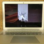 液晶画面割れをしたMacBook Airの買取実績