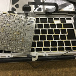 Mac キーボードの水没