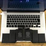 MacBook Pro 水没してから電源が落ちる修理